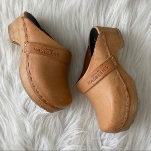 Swedish Hasbeens Kids Leather Clogs